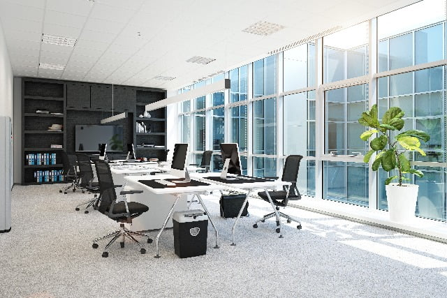 Modern office calling for regular office cleaning maintenance